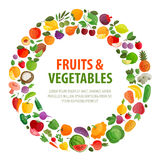 Food vector logo design template. fruits and Royalty Free Stock Image