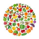 Food vector logo design template. fruits and Stock Photos
