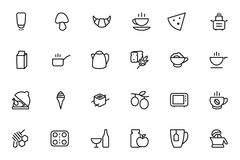 Food Vector Outline Icons 9 Royalty Free Stock Images