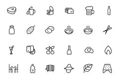 Food Vector Outline Icons 11 Stock Photo