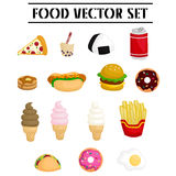 Food vector set Stock Images