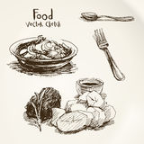 Food vector sketch Stock Photography