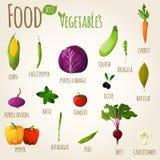 Food vegetables set Stock Images