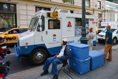 Food Vending Truck, New York City Stock Photo