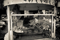 Food vendor of Amritsar, Punjab, India Stock Images