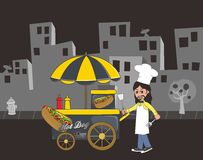 Food vendor cart Royalty Free Stock Photo
