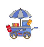Food vendor cart theme Royalty Free Stock Photos