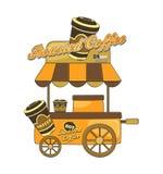 Food vendor cart theme Stock Image