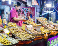 Food vendors at Bali Left Bank Park in Taiwan Stock Images