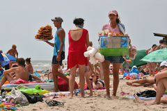 Food vendors at the beach Royalty Free Stock Image