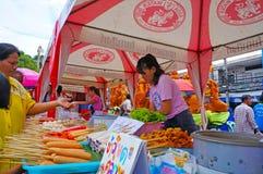 Food vendors Stock Photo
