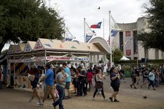 Food vendors at State Fair Texas. Dallas Fair Park USA 2017 royalty free stock photography