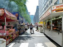 Food Vendors at Street Festival Stock Image