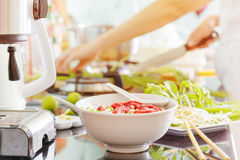 Vietnamese beef noodle soup Pho Bo Royalty Free Stock Photos
