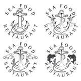 Food vintage labels set Royalty Free Stock Image