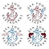 Food vintage labels set Stock Images