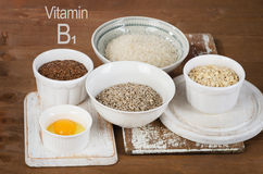 Food of vitamin B1 Royalty Free Stock Images