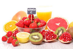 Food with vitamin C Royalty Free Stock Image