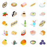 Food with vitamin icons set, isometric style. Food with vitamin icons set. Isometric set of 25 food with vitamin vector icons for web isolated on white Stock Photo