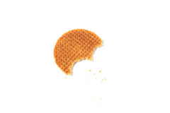 Food waffle with caramel Royalty Free Stock Images