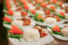 Food was prepared Royalty Free Stock Photos