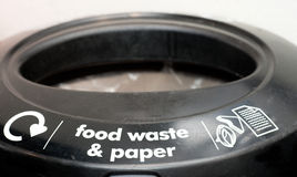 Food Waste and Paper Bin Stock Photography