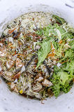 Food waste: the source of waste polluted in the earth Stock Image