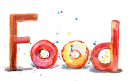 Food, watercolor illustration Royalty Free Stock Photos
