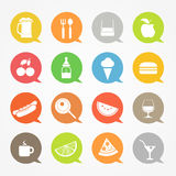 Food web icons set Stock Image