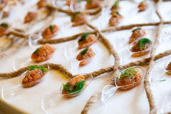 Catering food. Food at a wedding or catering event Royalty Free Stock Photo