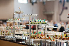Food on wedding reception Royalty Free Stock Photos