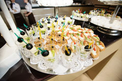 Food on wedding reception Royalty Free Stock Image