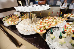 Food on wedding reception Stock Photo