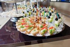 Food on wedding Stock Image