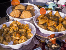 Food on the weekly Farmers Market in Lancaster England in the Centre of the City Stock Photo