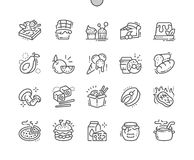 Food Well-crafted Pixel Perfect Vector Thin Line Icons 30 2x Grid for Web Graphics and Apps. Simple Minimal Pictogram Royalty Free Stock Photo