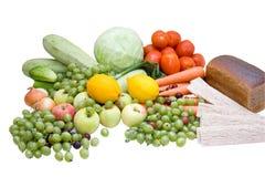 Food on white Stock Image