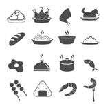 Food icons set vector Royalty Free Stock Photos