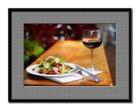 Food and wine. In artistic representation Stock Photo