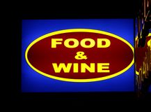 Food and wine sign Royalty Free Stock Photos