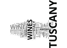 Food And Wine In The Tuscany Districts Word Cloud Concept Stock Image