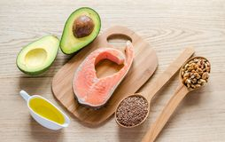 Food With Unsaturated Fats Royalty Free Stock Image