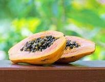 Yellow papaya in the garden Royalty Free Stock Photo