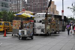New York City, 2nd July: Foodcart in Manhattan from New York City in United States royalty free stock photos