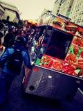 Foodcarts i NY Arkivfoto