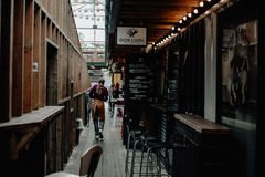 Foodcourt al aire libre Imagenes de archivo