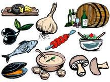 Foodicons illustrazione di stock