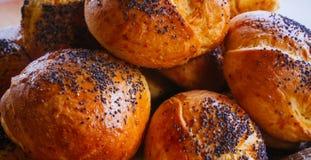 Foodies系列的食物-巴马干酪Buns#5 库存图片