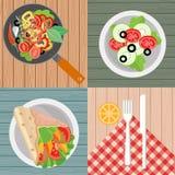 Foodism illustration Stock Image