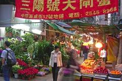 Foodmarket w środkowym Hongkong Zdjęcia Royalty Free
